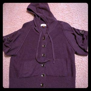 Purple hoodie sweater